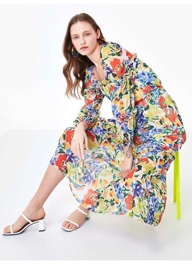 Twist Elbise Krem